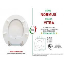 copy of Copriwater Nori Flaminia legno rivestito in resina poliestere bianco