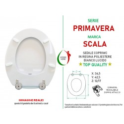 copy of Copriwater Pompei Flaminia legno rivestito in resina poliestere bianco