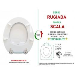 copy of Copriwater Roma Hidra legno rivestito in resina poliestere bianco