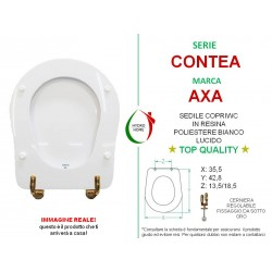 copy of Copriwater 500 Pozzi Ginori legno rivestito in resina poliestere bianco