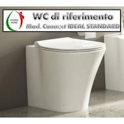 copy of Copriwater Clio Globo legno rivestito in resina poliestere bianco