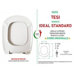 Copriwater Tesi Ideal Standard termoindurente bianco come originale