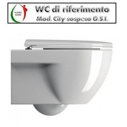 copy of Copriwater Tissi Catalano legno rivestito in resina poliestere bianco
