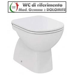 copy of Copriwater Lft Spazio Simas legno rivestito in resina poliestere bianco