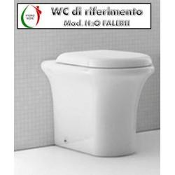 Copriwater H2O Falerii legno rivestito in resina poliestere bianco Soft Close
