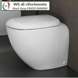 Copriwater Easy Pozzi Ginori legno rivestito in resina poliestere bianco Soft Close