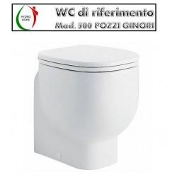 Copriwater 500 Pozzi Ginori legno rivestito in resina poliestere bianco Soft Close