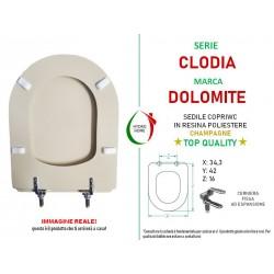 copy of Copriwater Italica Pozzi Ginori legno rivestito in resina poliestere Champagne
