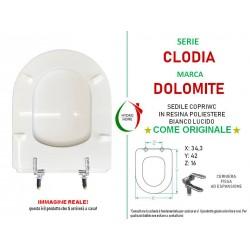 Copriwater Clodia Dolomite legno rivestito in resina poliestere bianco come originale