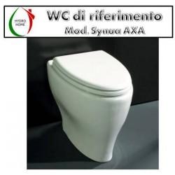 copy of Copriwater H2O Falerii legno rivestito in resina poliestere bianco