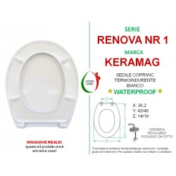 copy of Copriwater Plus 4 Keramag termoindurente bianco