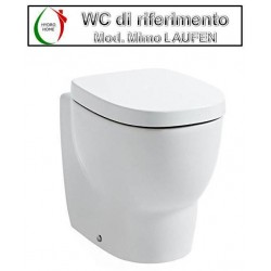 copy of Copriwater Curva Vincenti legno rivestito in resina poliestere bianco