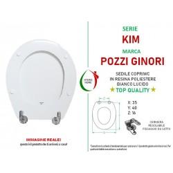 copy of Copriwater Colibrì Pozzi Ginori legno rivestito in resina poliestere bianco