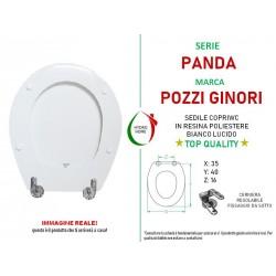 copy of Copriwater Kim Pozzi Ginori legno rivestito in resina poliestere bianco