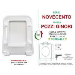 copy of Copriwater Egg Pozzi Ginori termoindurente bianco Soft Close Originale