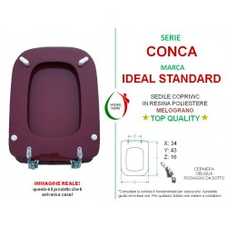 copy of Copriwater Conca Ideal Standard legno rivestito in resina poliestere Rosa Sussurrato
