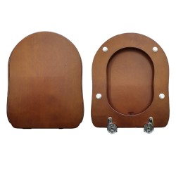 Copriwater Old Antea GSI compatibile legno massello noce