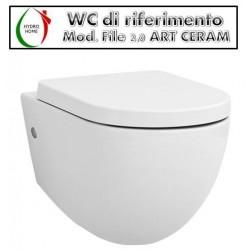 Copriwater File 2.0 Art Ceram legno rivestito in resina poliestere bianco