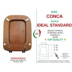 Copriwater Conca Ideal Standard compatibile legno massello noce