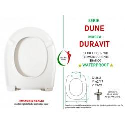 Copriwater Dune Duravit termoindurente bianco