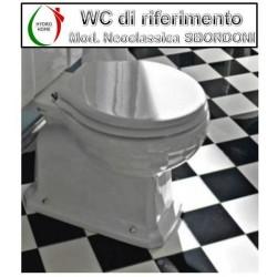 copy of Copriwater Magica Falerii legno rivestito in resina poliestere bianco
