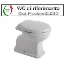 copy of Copriwater Neoclassica Sbordoni legno rivestito in resina poliestere bianco