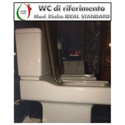 copy of Copriwater Fiorile Sospeso Ideal Standard legno rivestito in resina poliestere bianco