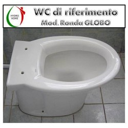 copy of Copriwater Maiora Hatria legno rivestito in resina poliestere bianco