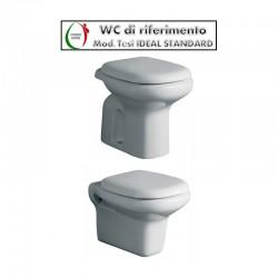 Copriwater Tesi Slim Ideal Standard termoindurente bianco Soft Close Originale
