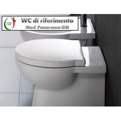 copy of Copriwater Stile Pozzi Ginori legno rivestito in resina poliestere bianco