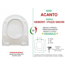 copy of Copriwater Q3 Pozzi Ginori termoindurente bianco Soft Close Originale