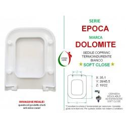 Copriwater Epoca Dolomite termoindurente bianco Soft Close