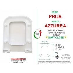 Copriwater Prua Azzurra termoindurente bianco Soft Close