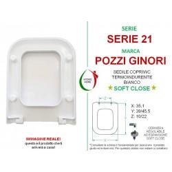 Copriwater Serie 21 Pozzi Ginori termoindurente bianco Soft Close