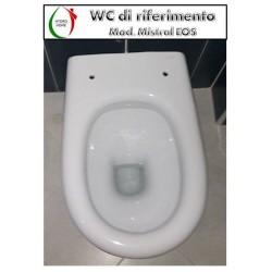 copy of Copriwater Selecta Hatria legno rivestito in resina poliestere bianco