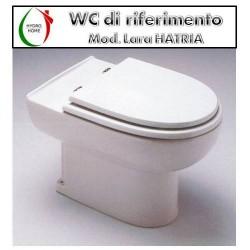 copy of Copriwater Uno Vincenti legno rivestito in resina poliestere bianco