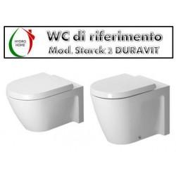 copy of Copriwater Epoca Dolomite legno rivestito in resina poliestere bianco