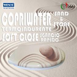 Copriwater Universale Sand & Stone termoindurente Soft Close Sgancio Rapido