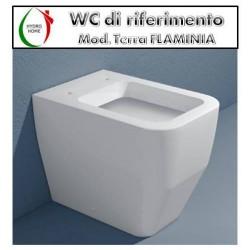 copy of Copriwater Cantica Ideal Standard legno rivestito in resina poliestere bianco Soft Close