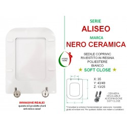 copy of Copriwater Terra Flaminia legno rivestito in resina poliestere bianco Soft Close