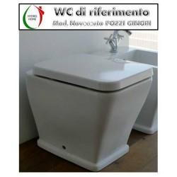 copy of Copriwater Aliseo Nero Ceramica legno rivestito in resina poliestere bianco Soft Close