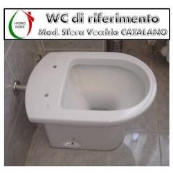 copy of Copriwater Aliseo Nero Ceramica legno rivestito in resina poliestere bianco