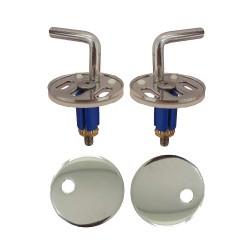 Cerniere regolabili fissaggio dall'alto acciaio inox per copriwater termoindurente
