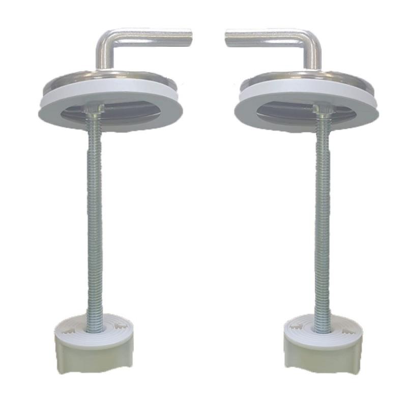 copy of Cerniere regolabili fissaggio dall'alto acciaio inox per copriwater termoindurente