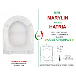 Copriwater Marylin Hatria termoindurente bianco come originale