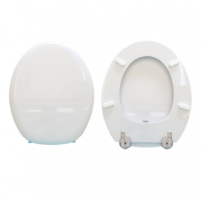 Toilet seat covers Erika Uni hatria Coated Wood in White Polyester Resin