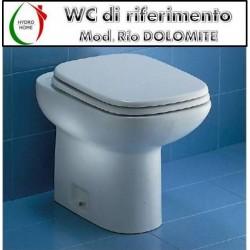 Copriwater Rio Dolomite legno verniciato bianco Carrara & Matta