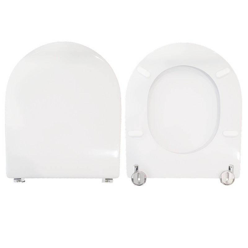 copy of Copriwater Starck 2 Duravit legno rivestito in resina poliestere bianco Soft Close