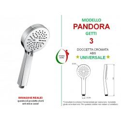 Doccetta Pandora in ABS cromato 2 getti