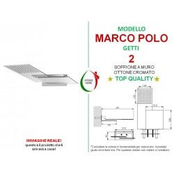 Soffione Doccia Marco Polo a muro ottone cromato 2 getti
